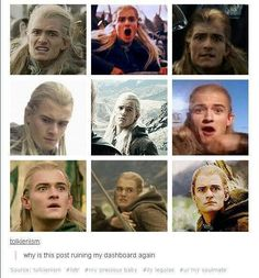 Oh my gosh his faces are priceless! I absolutely love Legolas! Lotr, Jrr Tolkien, Tolkien Quotes, Tolkien Books, O Hobbit, Z Cam, Wtf Face, Aragorn, Harry Potter