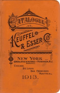 typeverything: Typeverything.com Catalogue for Keuffel & Esser Pencils 1913, 34th Edition book cover. (Via Present and Correct)