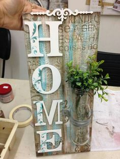 Wall Painting Decor, Diy Wall Decor, Painting On Wood, Wooden Art, Wooden Crafts, Arte Pallet, Family Art Projects, Chalk Crafts, Dollar Tree Decor