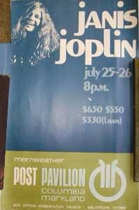 Janis concert poster.