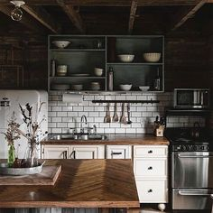 """2,049 Likes, 13 Comments - Lucy Rose (@birdie_farm) on Instagram: """"Good morning ☕️ oh my word, this moody kitchen @hillandcabin photographed by the incredible…"""""""