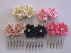 Satin Ribbon w/Bling Center on Metal Hair by CraniumDecorAndMore, $4.00