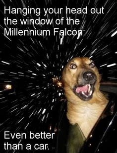 And yes, it's perfectly safe to have the window down in hyperspace.
