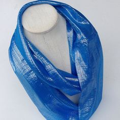 Mothers Day Gift Cobalt Blue Silk Infinity Scarf, Sparkly Sapphire Blue Circle Scarf, Belle Gift scarf, Handmade Gift for Teacher, by blingscarves. Explore more products on http://blingscarves.etsy.com
