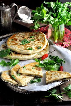 Aloo Paratha, Indian Potato Stuffed Flatbread - Crispy of the outside, moist and spicy potato filling on the inside. The simplest dough in the world to make and work with - mess free! Easy Soft Flatbread Recipe, Flatbread Recipes, Comida India, Recipetin Eats, Indian Food Recipes, Ethnic Recipes, Breakfast Dishes, Cooking Recipes, Easy Recipes