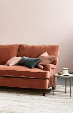 Love Your Home - Florence Corner  Sofa with Chaise From £2,195. A timeless design that won't date Made from solid beech, so it's extra sturdy Feather-wrapped cushions stay plumper for longer. Corner Sofa, Velvet sofa, living room ideas, home decor ideas, interior design, corner sofa