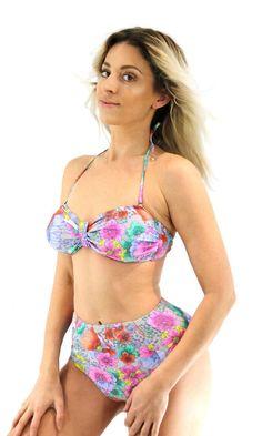 a7614a18f6fcc Women's High Waisted Sexy Black / Lavender Swimsuit Bikini Set Bathing Suit  Beachwear