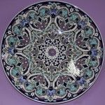 IMG_1794 (1280x1276) Hand Painted Pottery, Pottery Painting, Islamic Art, Mosaic, Decorative Plates, Blue And White, Ceramics, Tableware, Home Decor