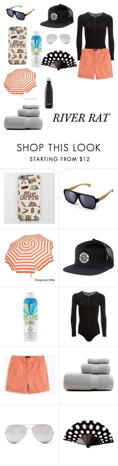 """""""Just went camping"""" by charmina-tuilefano ❤ liked on Polyvore featuring Poler, Bare Republic, J.Crew, Sunny Rebel and S'well"""