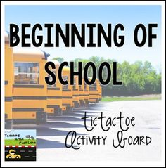 "FREE LANGUAGE ARTS LESSON - ""Beginning of School TicTacToe Choice Board"" - Go to The Best of Teacher Entrepreneurs for this and hundreds of free lessons. 2nd - 6th Grade    #FreeLesson    #LanguageArts     #BacktoSchool      http://www.thebestofteacherentrepreneurs.org/2016/08/free-language-arts-lesson-beginning-of.html"