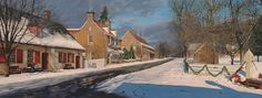 Main Street in Old Salem by Phillip Philbeck Charming House, Colonial Architecture, Main Street, Landscape Art, Original Paintings, Scenery, North Carolina, Fine Art, Art Prints