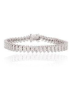 Love this 18k White Gold Plated Diamond Accent Tennis Bracelet on #zulily! #zulilyfinds