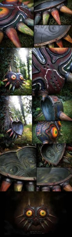 Hand-made Majora's Mask. Follow the link to see the whole process (this is just the really awesome end result!!!)