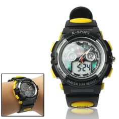 [$7.36] Waterproof Electronic & Quartz Sports Watch with Alarm Clock &…