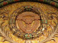 Trinity symbol in apse of St. Trinity Symbol, Church Building, Lutheran, Purple Flowers, Baltimore, Mosaics, Tiffany, Symbols, Mosaic