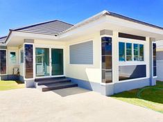 Three Bungalows With Floor Plans Perfect To Build In The Philippines Small Cottage Designs, Small House Design, Foreclosed Properties, Three Bedroom House, Small Cottages, Bungalow House Design, Affordable Housing, Home Design Plans, Cool Designs
