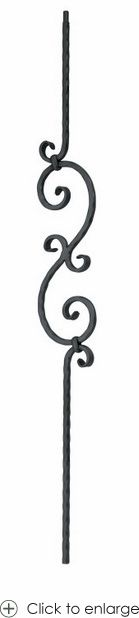 Single Twist Baluster l Wrought Iron Balusters l Iron Railings l Stair Parts l…