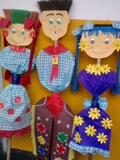 26 Ideias Criativas de Artesanato para Festa Junina - Artesanato Passo a Passo! Diy Crafts Videos, Diy And Crafts, Arts And Crafts, Paper Crafts, Diy For Kids, Crafts For Kids, Happy Monster, Class Decoration, Classroom Crafts