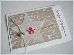 idea for a card - Kaart met een grote en een kleine ster.