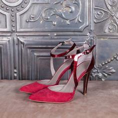 ICON - red suede  #altiebassi #autumn #winter #italianshoes