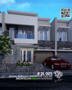 Desain Rumah Minimalis 3 Lantai, Type 190, Sudut/Hook ...