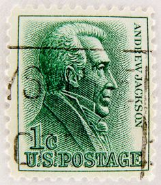 Great Stamp USA 1c Andrew Jackson 1767 1845 7th President Of Founder Democratic Party United States America Vereinigte Staaten Postzegel