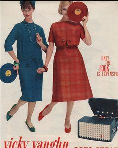 1958 Dolores Hawkins (l) and Lois Gunas Wideman (r) in Seventeen
