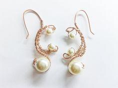 copper wire earrings ethnic earrings dangle copper by tizianat