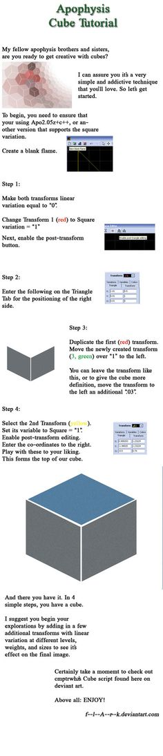 Apophysis Cube Tutorial by f--l--A--r--k on deviantART
