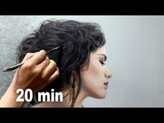 REALISTIC OIL PAINTING DEMO - hair / messy bun / chignon by Isabelle Richard - YouTube