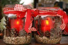 Leuchtendes rot zur Weihnachtszeit: Windlichter einfach selbermachen! / Foto: Ursula Thome