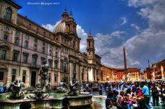 Gian Lorenzo Bernini  Fontana dei Quattro Fiumi- Piazza Navona (1648 - 1651) Francesco Borromini  Sant'Agnese in Agone – Piazza Navona (1653–1657)