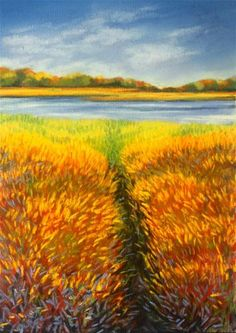 """Gator Trail"" - Original Fine Art for Sale - © Jill Bates"