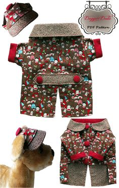 Dog Clothes Pattern Dapper Dude Coat & Cap By Miss Daisy Designs