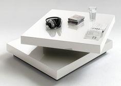 Couchtisch Viereckig Weiß Hochglanz lackiert 4777. Buy now at https://www.moebel-wohnbar.de/couchtisch-viereckig-weiss-hochglanz-lackiert-4777.html