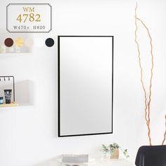 鏡 ウォールミラー おしゃれ ミラー 壁掛けミラー 壁掛け 木製。鏡 ウォールミラー ミラー 壁掛けミラー 姿見 おしゃれ 北欧 壁掛け 木製 日本製 アンティーク かがみ 壁 全身鏡 シンプル トイレ 洗面所 姿見ミラー レトロ 薄型 細枠 スリムミラー WM4782 インテリア リビング ドレッサー 洗面 化粧 玄関 薄い 壁かけミラー メイク 美容室 Mirror, Interior, Furniture, Home Decor, Style, Swag, Decoration Home, Indoor, Room Decor