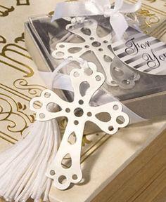 separador libro cruz recuerdo baby bautizo boda comunión