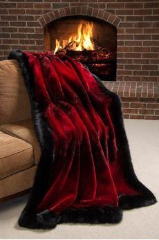 Winter Palace Sheared Beaver Fur Blanket (88 x 88 Queen) 9395.00