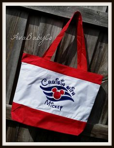 Disney Cruise DCL Inspired Embroidered Tote Bag by AvaBabyCo