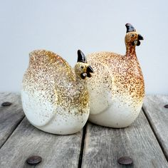 Ceramic Sculpture Speckled  Guinea Fowl by jorgemealha on Etsy,