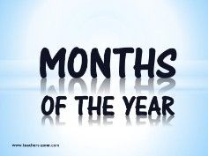months of the year vocabulary