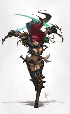 *Sonya, human, death rogue. Dual weapon speciallist.
