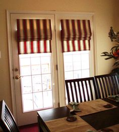 French door roman shades are popular functional window coverings that add a characteristic style to French & Roman Fruitwood Bamboo French Patio Door Shade | Deal Door shades ... Pezcame.Com