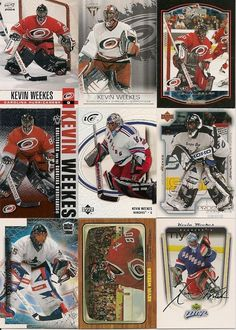 17 DIFFERENT KEVIN WEEKES HOCKEY CARDS