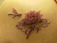 Lotus++Dragonfly+Tattoo