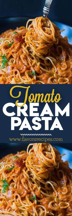 Tomato Cream Pasta Can't Be Beat for Flavor #Recipes #pasta #Cream #dinner #pastanight #dinner #ideas #dinnerparty #italianfood