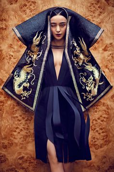 """Fan Bingbing"" Fan Bingbing wearing Lanvin and photographed by Chen Man for i-D ""The Role Model Issue"" Fall 2012 See more from his set here I just have this thing for navy blues these days. Oriental Fashion, Ethnic Fashion, Asian Fashion, Trendy Fashion, High Fashion, Saree Fashion, Chinese Fashion, Latest Fashion, Fashion Trends"