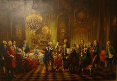 King Frederick the Great on the Flute performing with Carl Philipp Emanuel Bach on the Harpsichord and Frantisek Benda on the Violin. Cello Bow, Frederick The Great, Flute, Framed Prints, King, History, Portrait, Antiques, Wallpaper