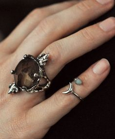 Crowley Smokey Quartz Ring by MANIAMANIA