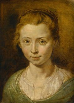 Peter Paul Rubens - Portrait of a Young Girl, Possibly Clara Serena Rubens, the Artist's Daughter